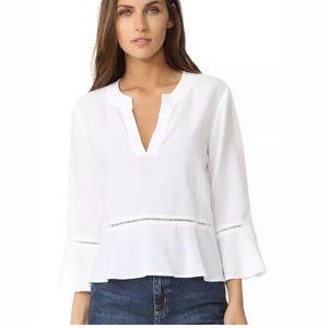 Cloth & Stone Peplum V-neck 3/4 Bell Sleeve sz S